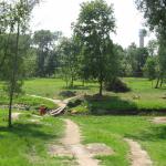 Kupos upės krantinių ir slėnio tvarkymas Kupiškio mieste. Kupos upės perėjimo vieta prieš pėsčiųjų tilto pastatymą