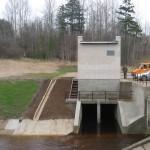 Stirniškių hidroelektrinė ant Suosos upelio. Rangovas UAB NODAMA